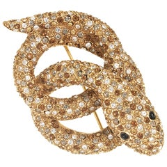 CINER Classic Sprinkle Mix Coil Snake Brooch