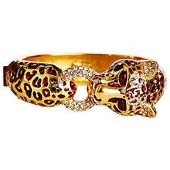 CINER Classic Tortoise Enamel Cheetah Animal Bracelet