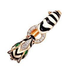 CINER Classic Zebra Animal Bracelet in White and Black