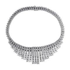 CINER Crystal Encrusted Chandelier Necklace