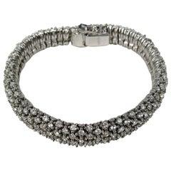 Ciner Crystal Swarovski Encrusted  Bracelet- Never Worn 1980s