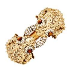CINER Double Bumpy Frog Animal Bracelet in Gold