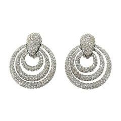 Ciner Encrusted Crystal Earrings New, Never worn 1980s