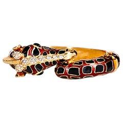 CINER Giraffe Animal Bracelet in Black and Tortoise