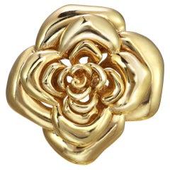 CINER Gold Blooming Rose Pin
