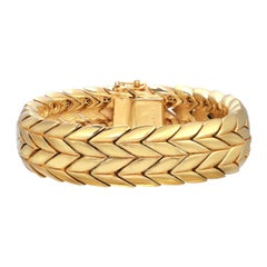 CINER Gold Double Chevron Soft Bracelet