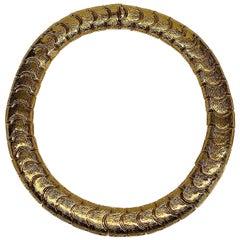 Ciner Gold Link Collar Necklace