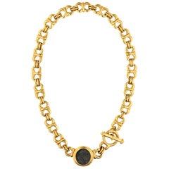 CINER Gold Roman Coin Necklace