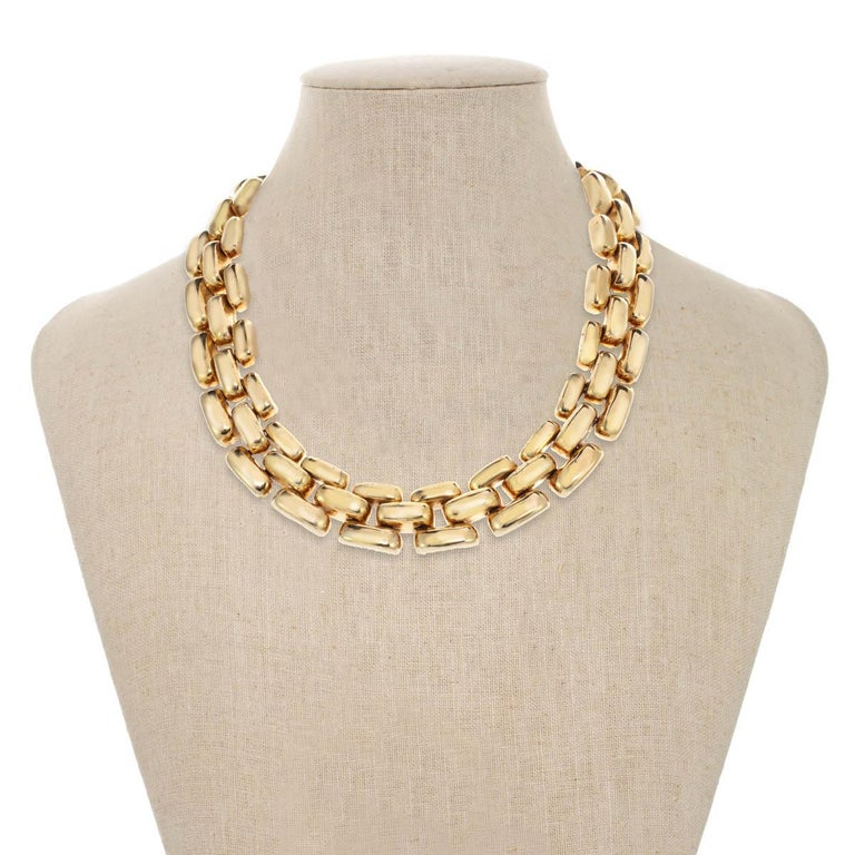 Bold and beautiful! A signature CINER look, this gorgeous chubby link gold necklace is the perfect accessory to transition from work to play!  If you would like to order this with a rhodium plate, please message us!    Materials: Pewter 18K Gold