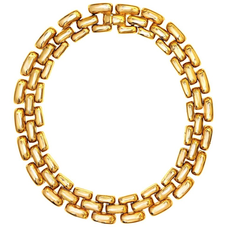 CINER Gold Subway Necklace For Sale
