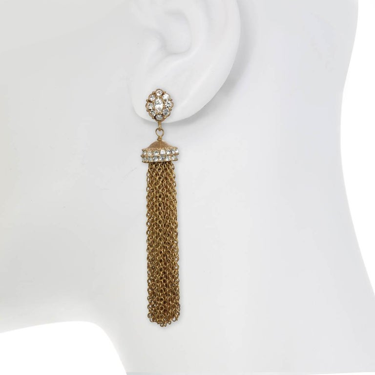 Tassels are timelessly chic and the perfect accessory for every season and every occasion!  A showroom show stopper, these earrings are perfect accessory to wear from day to night.   PLEASE NOTE: The pieces available are not vintage and are not
