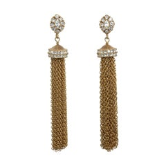 CINER GOLD Tassel Clip On Earring