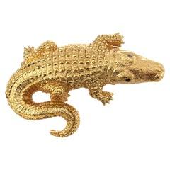 CINER Golden Alligator Brooch