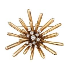CINER Golden Sputnik Pin
