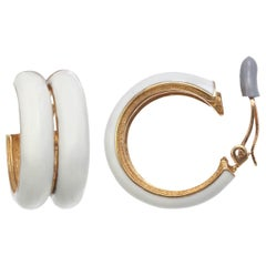 CINER Ivory Double Hoop Clip Earring