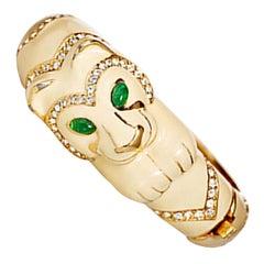 CINER Ivory Enamel Foo Dog Animal Bracelet