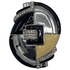 Ciner Large 1980s Art Deco Style Brooch