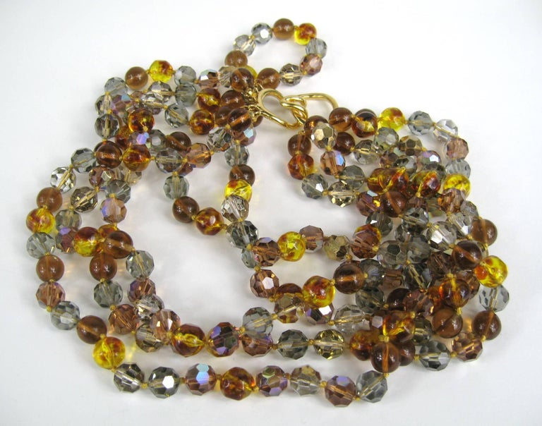 Ciner Ombre Multi strand Bead Necklace 1980s New, Never Worn In New Condition For Sale In Wallkill, NY
