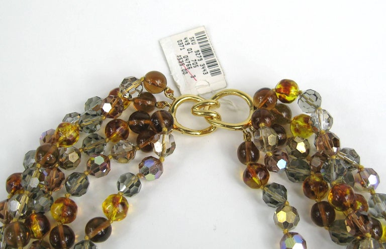 Ciner Ombre Multi strand Bead Necklace 1980s New, Never Worn For Sale 3