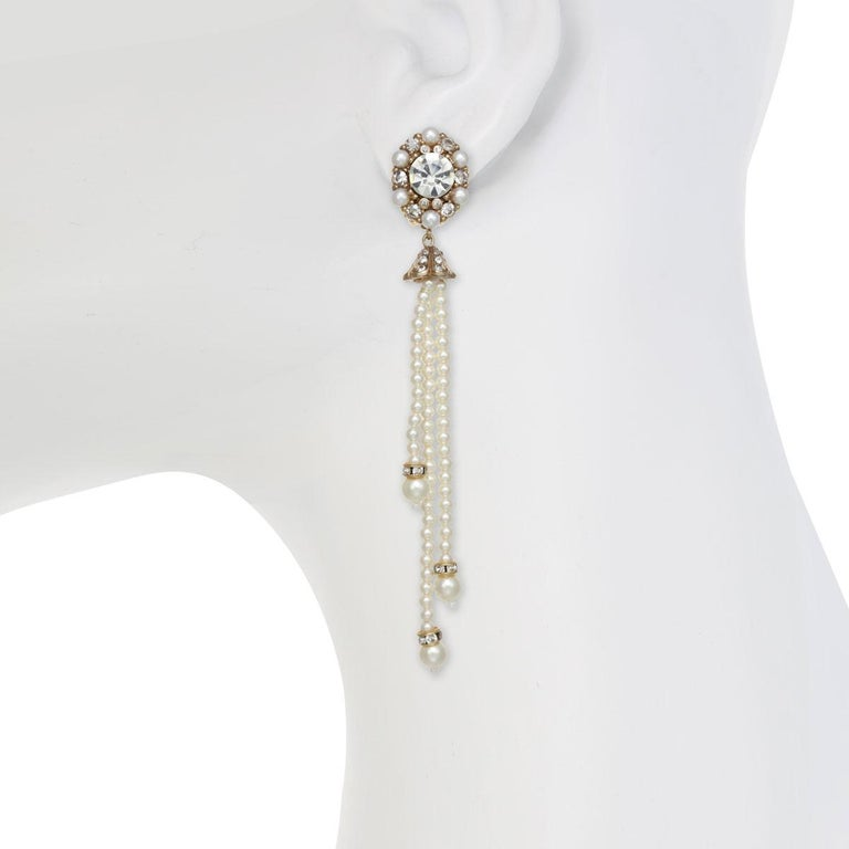 Contemporary CINER Pearl Tassel Earring For Sale