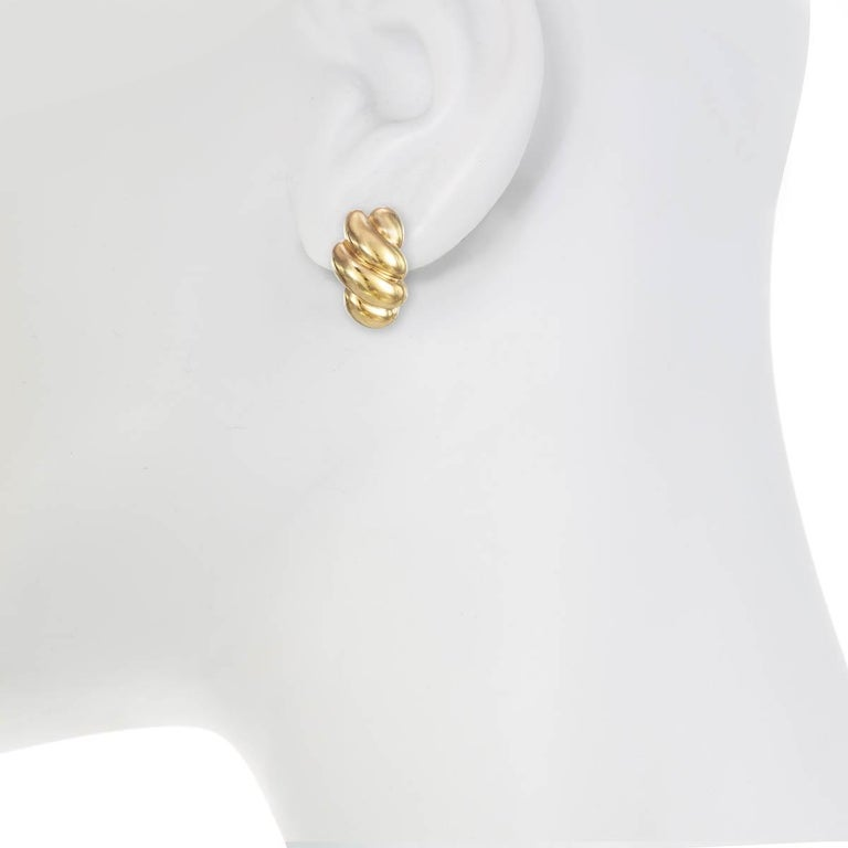 Bold and beautiful! This stunning pair of gold earrings are the perfect accessory for year round wear!  If you would like to order this in rhodium plate, please message us!    Materials Pewter 18K Gold Plating Clip or Post Back Dimensions  Length: