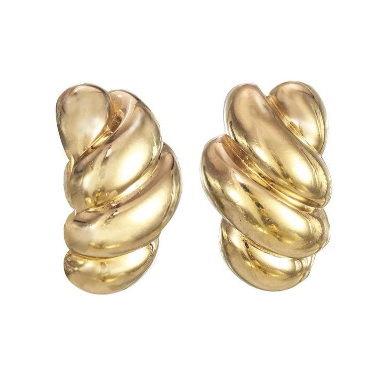 CINER Petite Gold Earrings For Sale