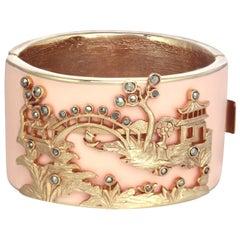 CINER Pink Golden Scenic Bracelet