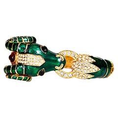 CINER Ram Animal Bracelet in Green