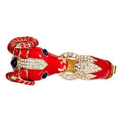 CINER Ram Animal Bracelet in Red