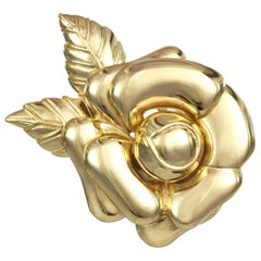 CINER Signature Gold Rose Pin