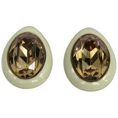 Ciner Swarovski crystal earrings New, Never worn 1980s