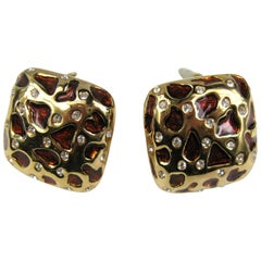Ciner swarovski Crystal Leopard Earrings Never Worn 1990s