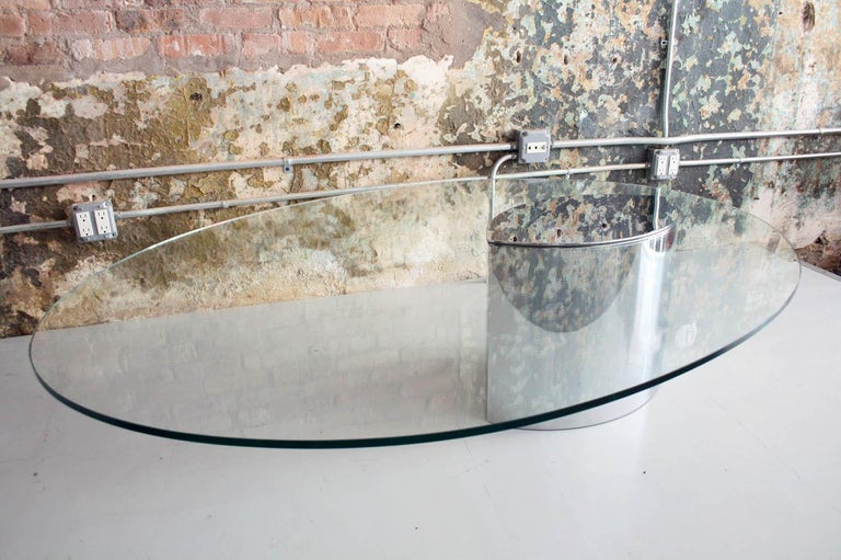 Mid-Century Modern Cini Boeri for Knoll 'Lunario' Cantilevered Cocktail Table For Sale