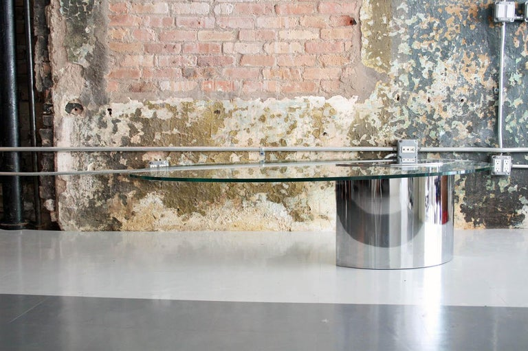 American Cini Boeri for Knoll 'Lunario' Cantilevered Cocktail Table For Sale