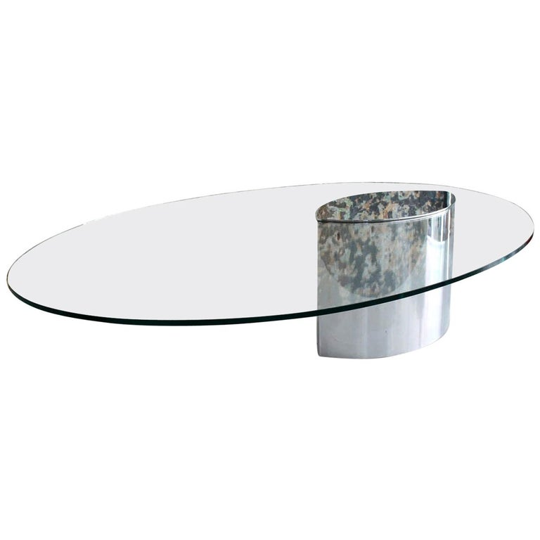 Cini Boeri for Knoll 'Lunario' Cantilevered Cocktail Table For Sale