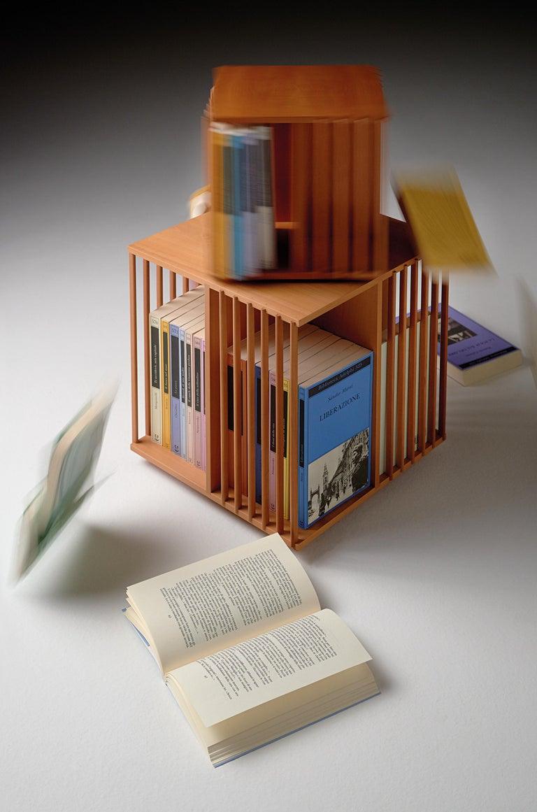 Modern Cini Boeri Small Libreria Girevole Wooden Rotating Bookcase for Bottega Ghianda For Sale