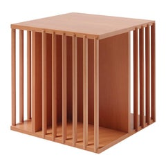 Cini Boeri Small Libreria Girevole Wooden Rotating Bookcase for Bottega Ghianda