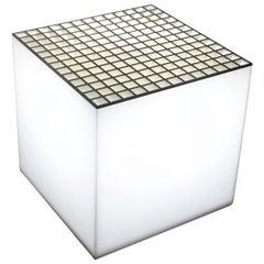 Cini & Nils 1970s Cube Flowerpot and Lamp in Plexiglass