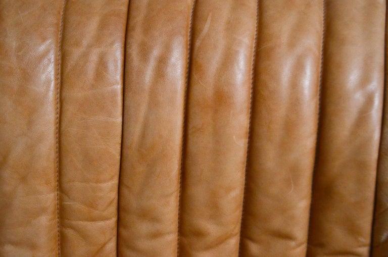 Cinna / Ligne Roset Leather Sofa Sandra by Annie Hieronimus Natural Cognac 5
