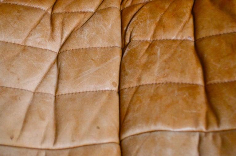 Cinna / Ligne Roset Leather Sofa Sandra by Annie Hieronimus Natural Cognac 6