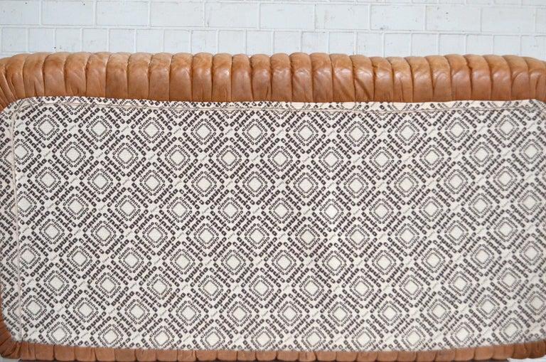 Cinna / Ligne Roset Leather Sofa Sandra by Annie Hieronimus Natural Cognac 11