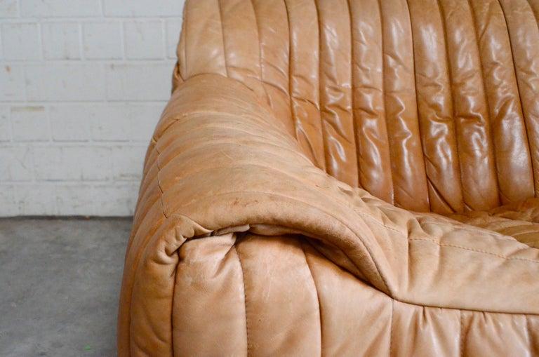 Late 20th Century Cinna / Ligne Roset Leather Sofa Sandra by Annie Hieronimus Natural Cognac