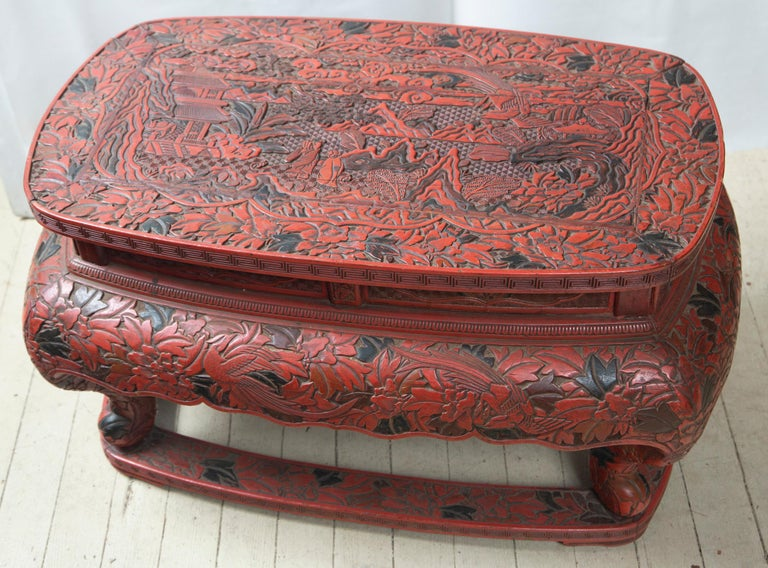 Chinese Cinnabar Low Table For Sale