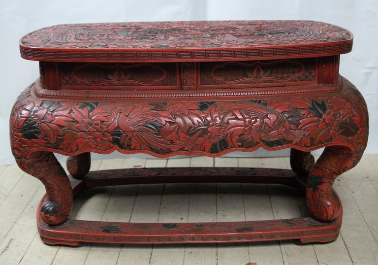 Cinnabar Low Table In Good Condition For Sale In Woodbury, CT