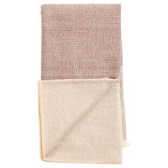 Cino Merino Handloom King Size Bedspread, Soft Neutral Shades of Cream & Brown