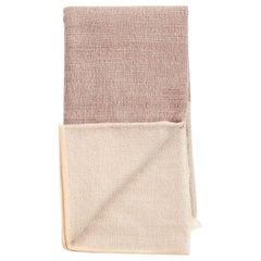 CINO Merino Handloom Queen Size Bedspread, Soft Neutral Shades of Cream & Brown