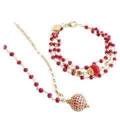 Cinta Ruby 14K Gold Bracelet