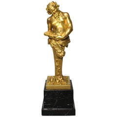 Cipri Adolf Bermann, German, 19th Century Gilt-Bronze Bacchus Herm Term