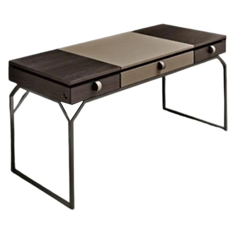 Cipriani Dragonfly Desk with Walnut and Leather