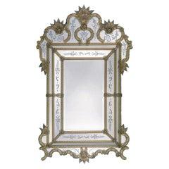 Cipriano Murano Glass Mirror in Venetian Style